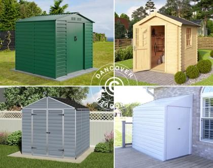 Garden sheds i metal, wood, or polycarbonate
