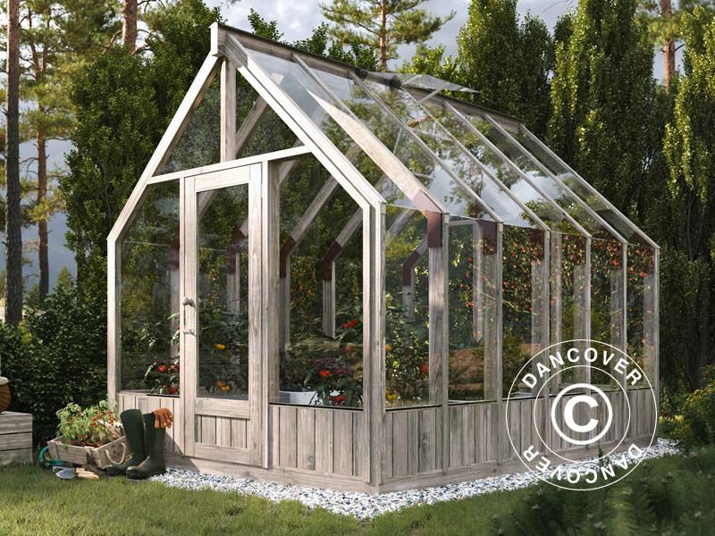 Wooden greenhouse and garden gazebo in great design