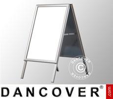 A-board, 63.6x110 cm, Aluminium