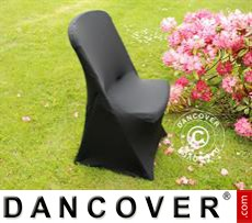 Stretch chair cover, 48x43x89 cm, Black (10 pcs.)