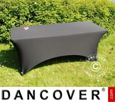 Stretch table cover, 183x75x74 cm, Black