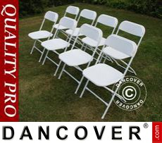 Folding Chair white 44x44x80 cm, 8 pcs