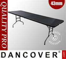Folding Table 242x74x74cm, Black (10 pcs.)