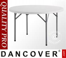Round banquet tables Ø 116 cm, Light grey (5 pcs.)