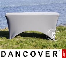 Stretch table cover, 183x75x74 cm, Grey
