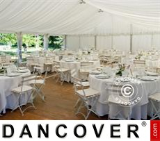 Marquee lining and leg curtain pack, white, for 6x14m marquee