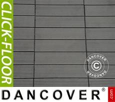 Decking tiles WPC Click-Floor, Lines, 30x30 cm, 9 pcs/box, Grey