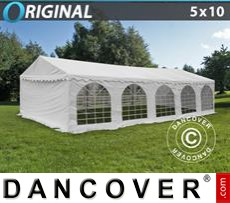 Party Marquee Original 5x10 m PVC, White