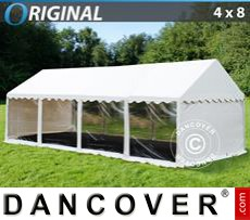 Party Marquee Original 4x8 m PVC, Panorama, White