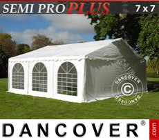 Party Marquee SEMI PRO Plus 7x7 m PVC, White