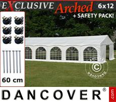 Party Marquee Exclusive 6x12 m PVC,