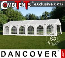 Party Marquee Exclusive CombiTents® 6x12m 4-in-1, White