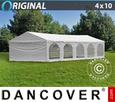 Party Marquee Original 4x10 m PVC, White