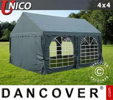 Party Marquee UNICO 4x4 m, Dark Grey
