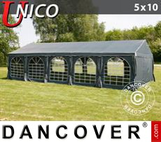 Party Marquee UNICO 5x10 m, Dark Grey