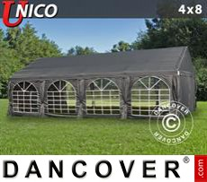 Party Marquee UNICO 4x8 m, Dark Grey