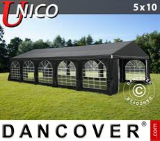 Party Marquee UNICO 5x10 m, Black