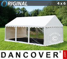 Party Marquee Original 4x6 m PVC, Panorama, White