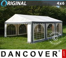 Party Marquee Original 4x6 m PVC, Grey/White