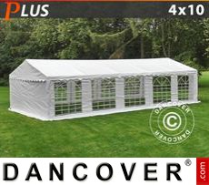 Party Marquee PLUS 4x10 m PE, White