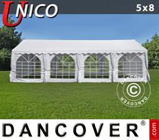 Party Marquee UNICO 5x8m, White