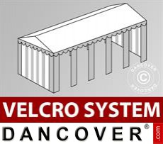Roof cover with Velcro for Original marquee 4x10 m, White / Grey