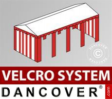 Roof cover with Velcro for Original marquee 6x8 m, White / red