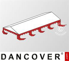 Roof cover for Marquee Original 6x8 m PVC, White / red
