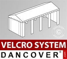 Roof cover with Velcro for Original marquee 4x8 m, White