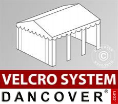 Roof cover with Velcro for Original marquee 4x6 m, White