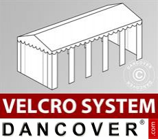 Roof cover with Velcro for Original marquee 4x10 m, White