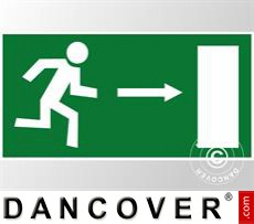 Emergency sign, right arrow, sticker 5 pcs.