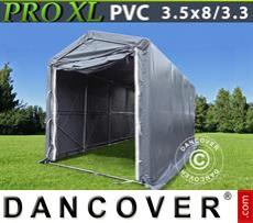 Boat shelter PRO 3,5x8x3,3x3,94 m, PVC, Grey