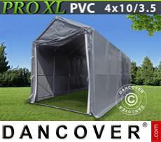 Boat shelter PRO 4x10x3,5x4,59 m, PVC, Grey