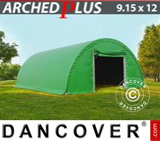 Boat shelter 9.15x12x4.5 m PVC, Green