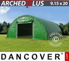 Boat shelter 9.15x20x4.5 m PVC, Green