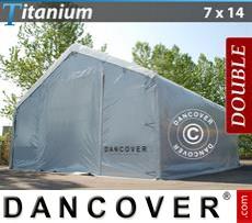 Camper Tent Titanium 7x14x2.5x4.2 m, White / Grey