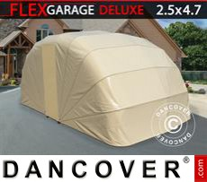 Folding garage (Car), 2.5x4.7x2 m, Beige