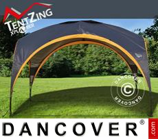 Event Furniture Camping shelter, TentZing®, 3.5x3.5m, Orange/Dark Grey