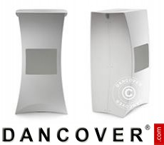 Event Furniture FLUX PILLAR, bar stool, white