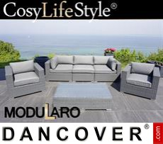Garden Furniture Lounge Set I, 6 modules, Modularo, Grey