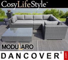 Garden Furniture Lounge Set IV, 4 modules, Modularo, Grey