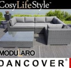 Garden Furniture Lounge Set IV, 4 modules, Modularo, Grey