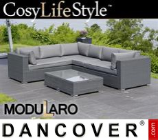 Garden Furniture Lounge Set V, 4 modules, Modularo, Grey