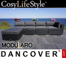 Garden Furniture Lounge Sofa II, 5 modules, Modularo, Black