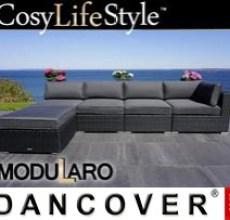 Garden Furniture Lounge Sofa II, 5 modules, Modularo, Black