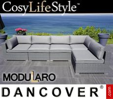 Garden Furniture Lounge Sofa I, 5 modules, Modularo, Grey