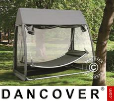 Garden Furniture, Hanging w/Mosquito Net, Dark Grey