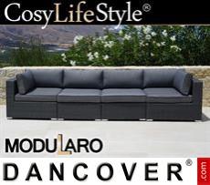 Garden Furniture Lounge Sofa, 4 modules, Modularo, Grey