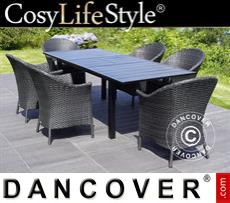 Garden Furniture w/1 Garden Furniture + 6 garden Garden Furnitures, Key West, Black